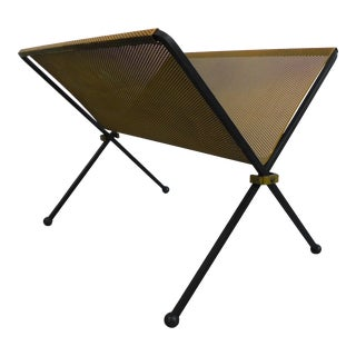 Mid-Century Modern Magazine Rack For Sale