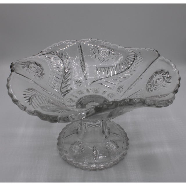 Mid-Century French Crystal Cut Glass Compote For Sale - Image 6 of 13