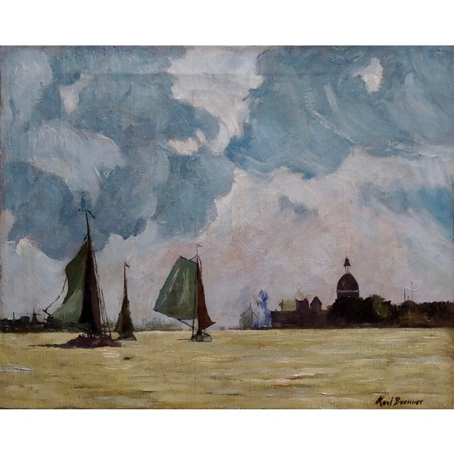 Karl Brenner - View of Istanbul -Oil painting - c1910s oil painting on canvas -Signed circa 1910s no frame canvas size 20...