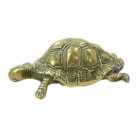 19th-C. English Brass Turtle For Sale