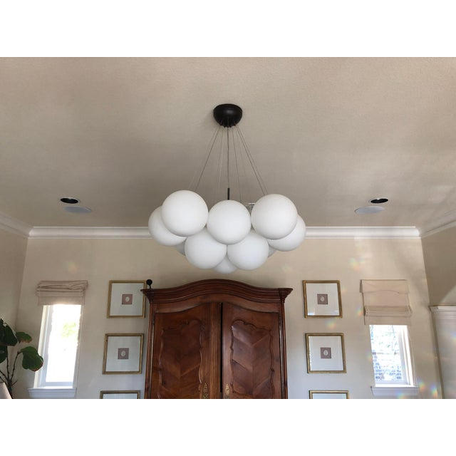 2010s Cielo 3 Light Chandelier New in Box For Sale - Image 5 of 5