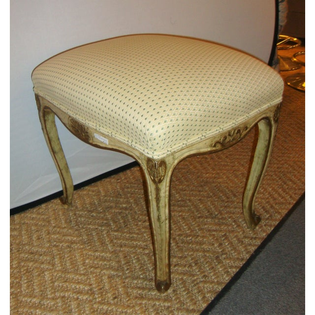 Textile French Painted Stools - A Pair For Sale - Image 7 of 9