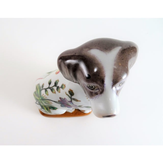 Chinoserie Porcelain Dog Statue For Sale - Image 10 of 12
