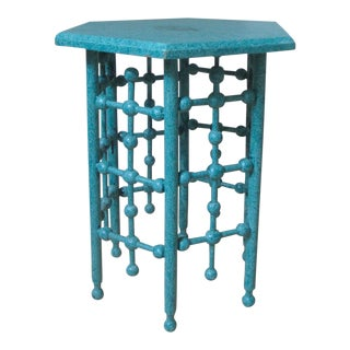 Antique Ball & Stick Hexagonal Drinks Side Table For Sale