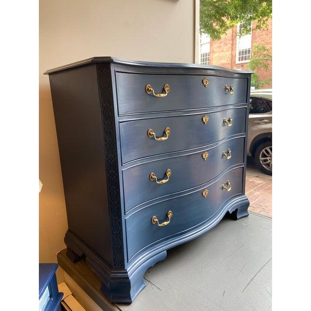 Traditional Heritage Furniture Blue Dresser For Sale - Image 3 of 11