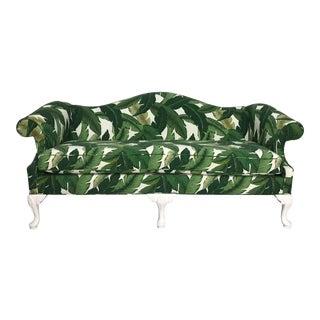 1940s Tropical Leaf Sofa For Sale