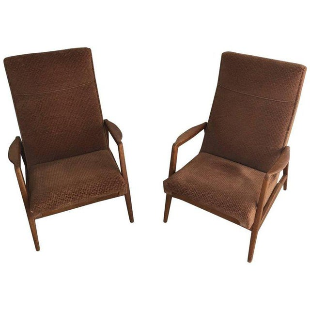Rare Pair of Reclining Armchairs by Knoll Antimott - Image 11 of 11