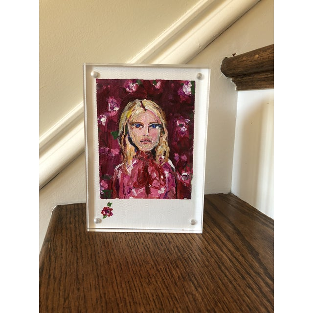 """2010s JJ Justice """"Blonde Beauty"""" Painting For Sale - Image 5 of 6"""