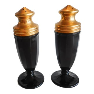 1920s Cambridge Ebony With Gold Shakers No. 395- a Pair For Sale