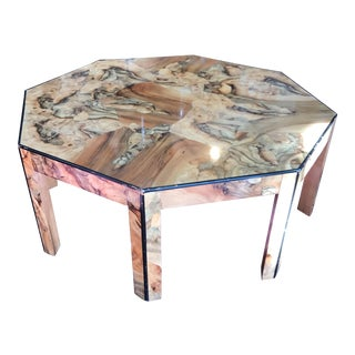 Octagonal Burl Coffee Table