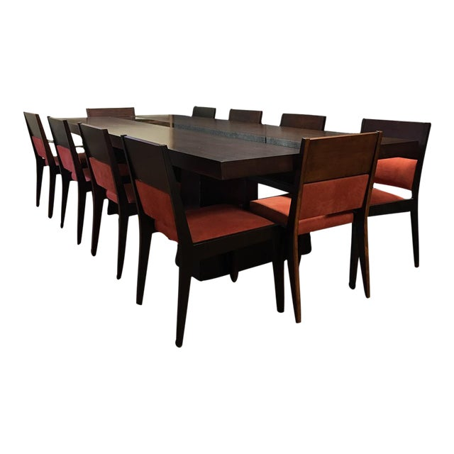 Dialogica Foot Custom Made Dining Table With Ten Matching Chairs - 10 foot outdoor dining table