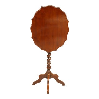 English Victorian Mahogany Scalloped End Table For Sale