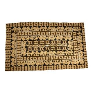 Vintage New Guinea Large Wall Hanging Block Print Tapa Cloth