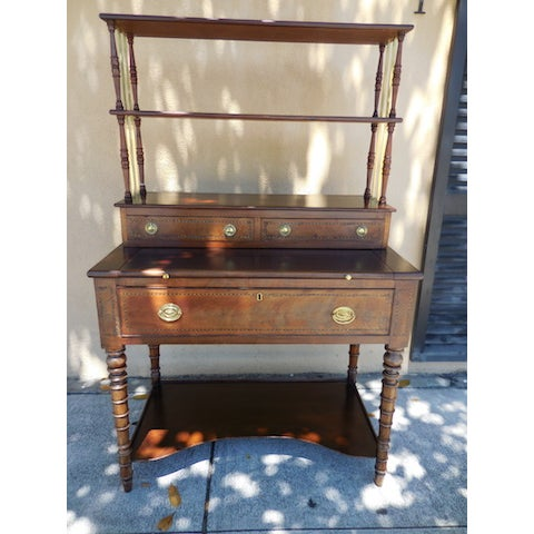 Antique English Mahogany Desk - Image 2 of 7