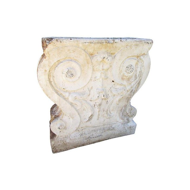 French Country 19th-C. French Garden Stone Fragment For Sale - Image 3 of 6
