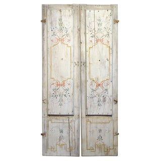 Early 19th Century Antique Italian Pair of Hand Painted Door Panels- A Pair For Sale
