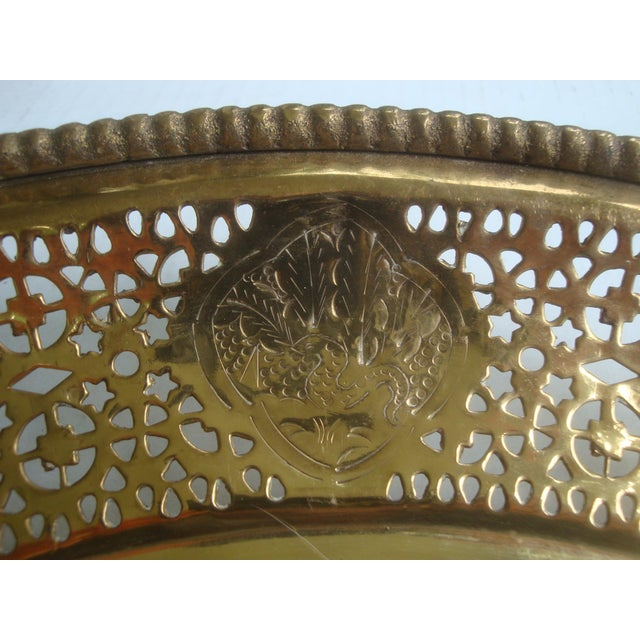 Pierced Brass Tray Chinese Zodiac Animals For Sale - Image 4 of 10
