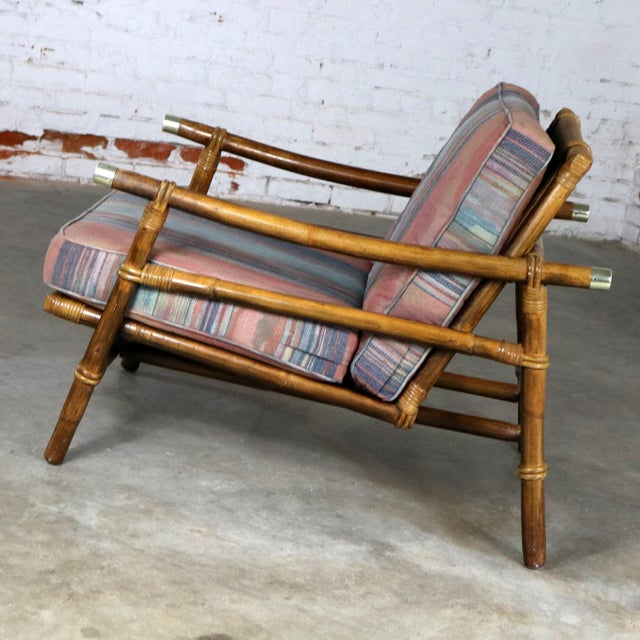 Metal John Wisner for Ficks Reed Rattan Lounge Chair For Sale - Image 7 of 13