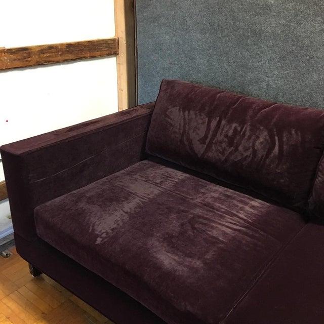 Dialogica Purple Velvet 10-Foot Custom-Made Sofa - Image 8 of 11