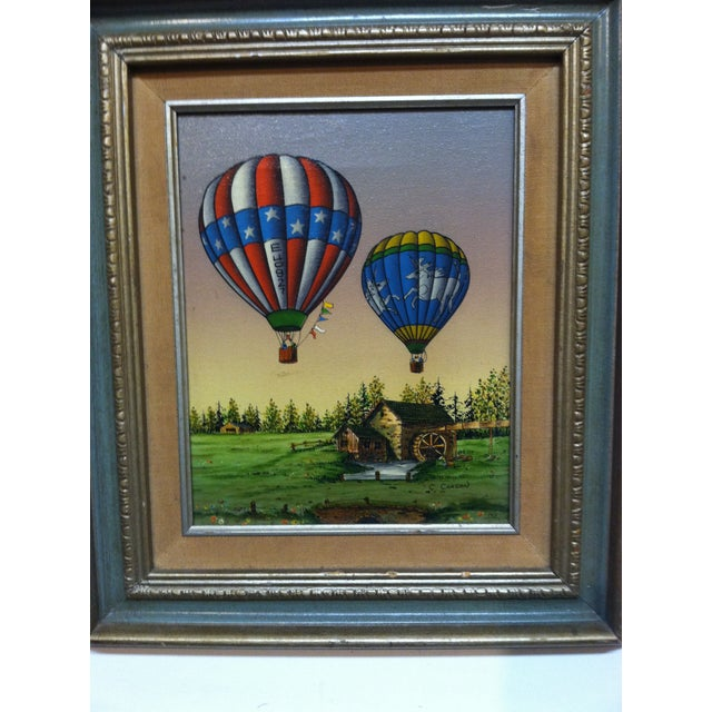 "This is a Framed Original Painting on Canvas that is titled ""Colorful Balloons"" by C. Carson."