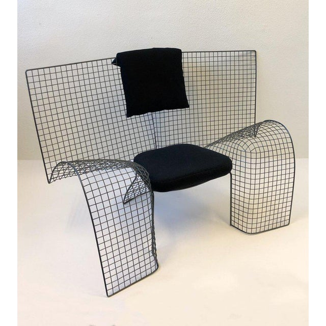 De Pas D'urbino Lomazzi Memphis Steel Mesh Chair by D'Urbino Lomazzi for Zerodesigno For Sale - Image 4 of 11