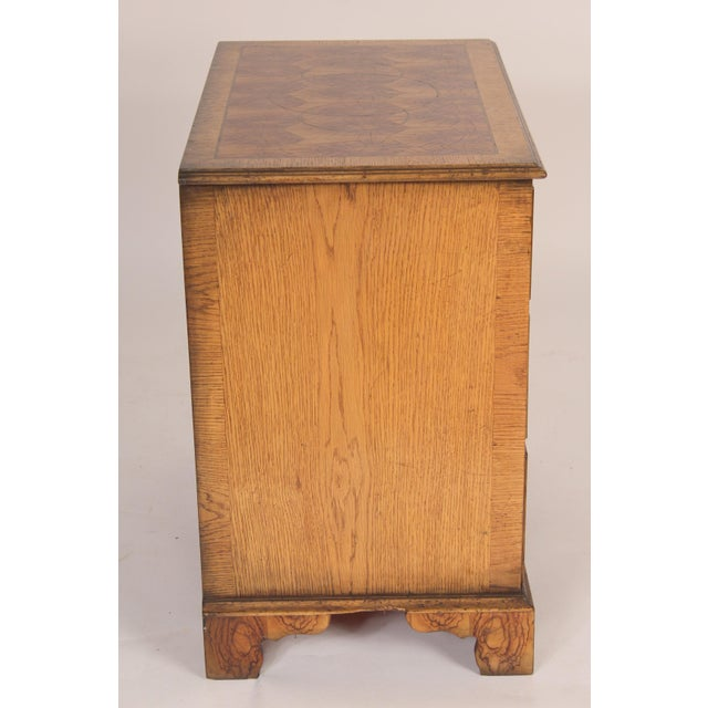 English Georgian Style Oyster Burl Chest of Drawers For Sale - Image 3 of 12