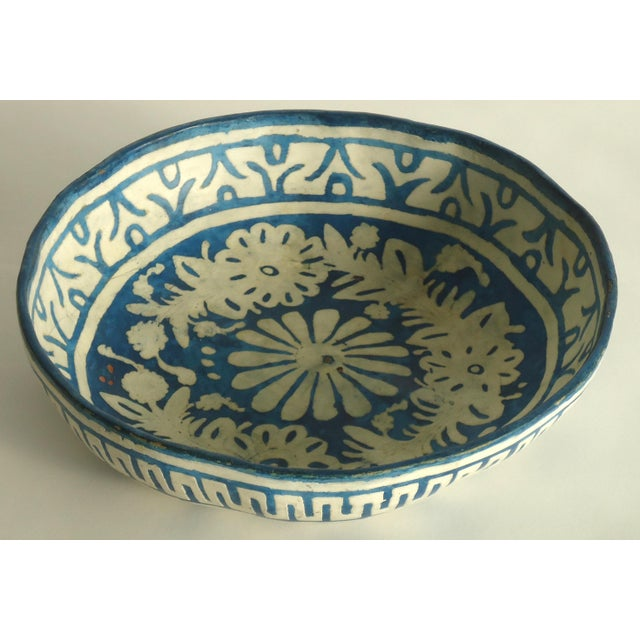 Folk Art Painted Gourd Bowl - Image 3 of 8