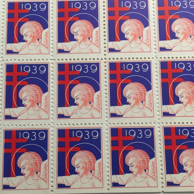 Mid-Century Modern Vintage Angel Christmas Stamps For Sale - Image 3 of 5
