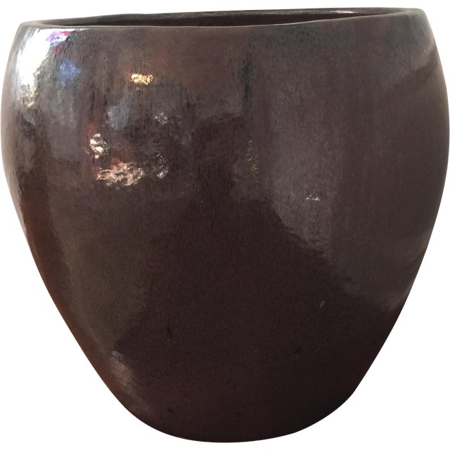 Large Glazed Ceramic Architectural Pot - Image 1 of 4