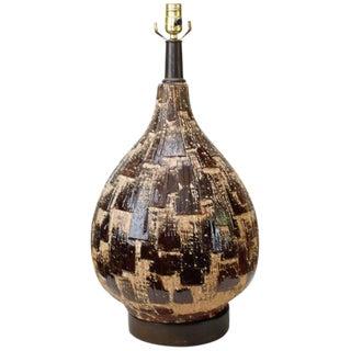 Mid-Century Cubist-Style Table Lamp