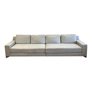 Modern Holly Hunt Beige Linen MIX Couch For Sale