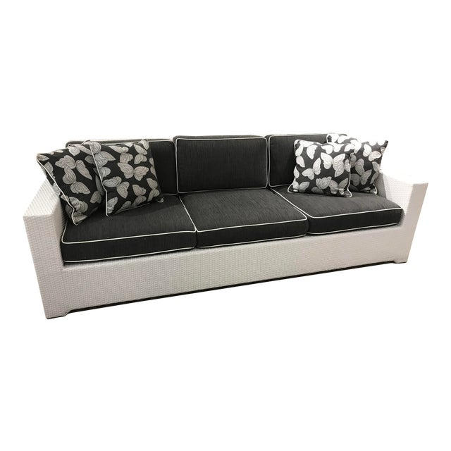 Frontgate Wicker Palmero Sofa For Sale