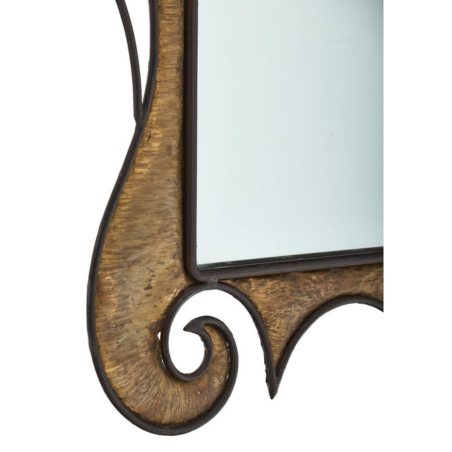 Gold French Art Nouveau Wall Mirror For Sale - Image 8 of 10