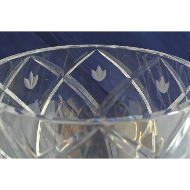 Vintage Heavy Cut Crystal Decorative Bowl For Sale In New York - Image 6 of 9