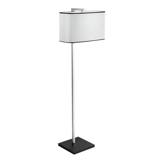 Satin Black and Aluminium Floor Light For Sale