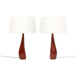 Pair of Teak Lamps by Ernst Henriksen For Sale