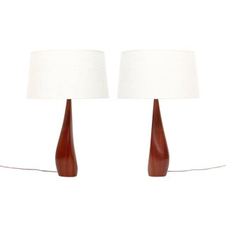 Teak Lamps by Ernst Henriksen- A Pair For Sale