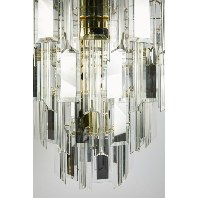 Vintage Italian Waterfall Chandelier With Lucite and Mirrored Prisms For Sale - Image 10 of 13