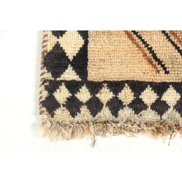 Late 20th Century Late 20th Century Hand-Knotted Persian Gabbeh Rug - 3′2″ × 6′8″ For Sale - Image 5 of 8