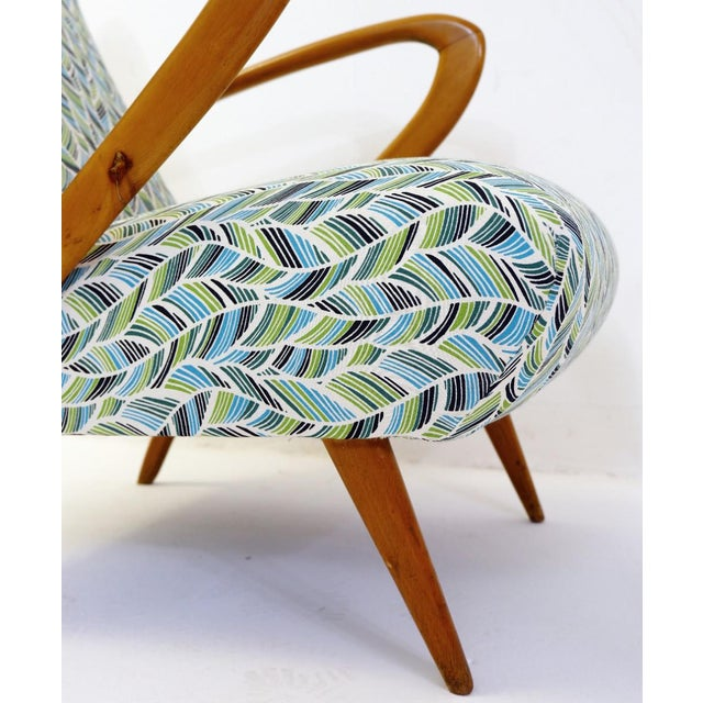 Mid-Century Modern Pair of Guglielmo Ulrich Armchairs, Italy 1950 - New Upholstery For Sale - Image 3 of 9