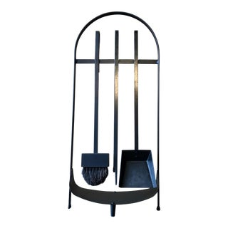 Modernist Wrought Iron Fireplace Tools For Sale