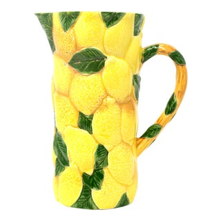 Vintage Shafford Original Lemon and Leaves Pitcher