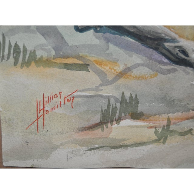 Two Sided Watercolor by Lillian Hamilton C.1950's - Image 5 of 5
