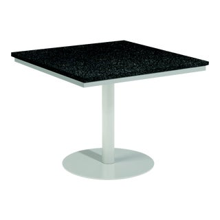 """38"""" Square Outdoor Bistro Table, Charcoal For Sale"""