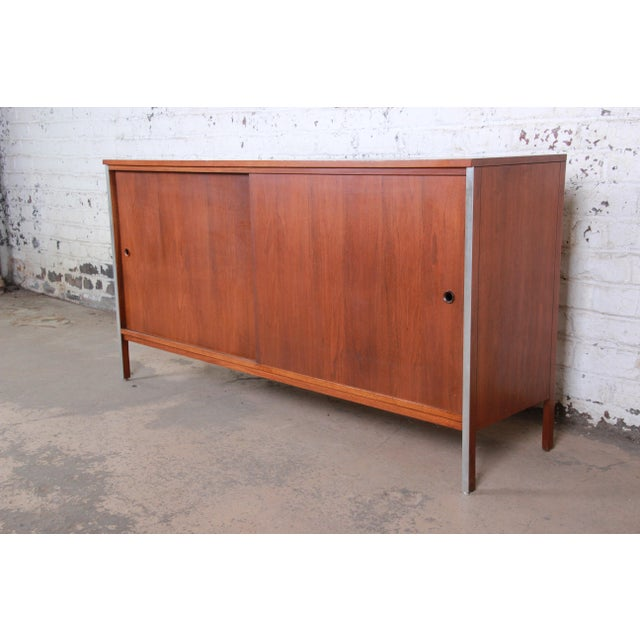 Paul McCobb for Calvin Linear Group Walnut Sideboard Credenza For Sale - Image 12 of 12
