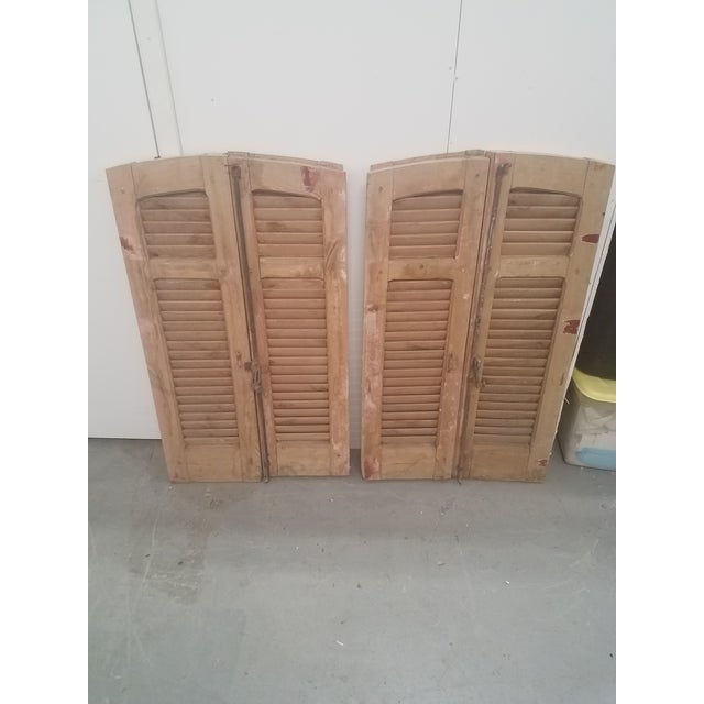 Antique Curved Wooden Shutters - Set of 4 For Sale - Image 11 of 11