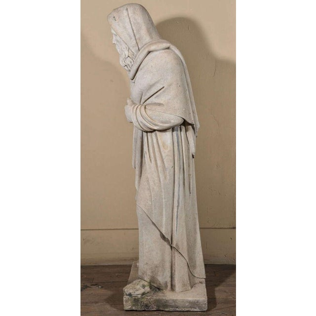 Italian 19th Century Carrara Marble Statue from Italy For Sale - Image 3 of 9