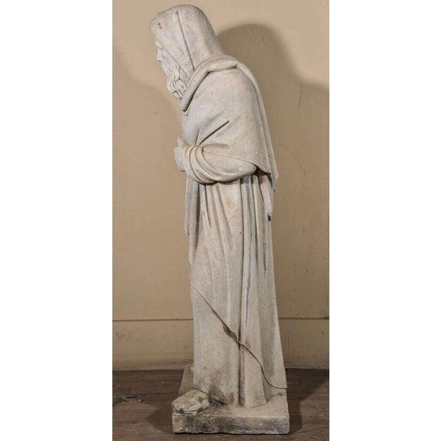 Italian Italian Carrara Marble Statue For Sale - Image 3 of 9