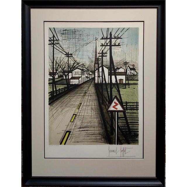 """Bernard Buffet - French Street -Original 1961 Artist Proof Lithograph frame size 30 x 40"""" paper size 19 x 26"""" Artist Proof..."""