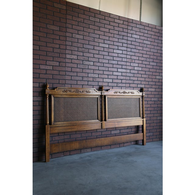 Wood 20th Century French Regency Cane King/Cal King Headboard For Sale - Image 7 of 8